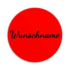 Aufkleber rund, personalisiert, rot
