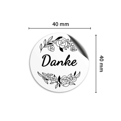 Danke Sticker 40mm - 4cm