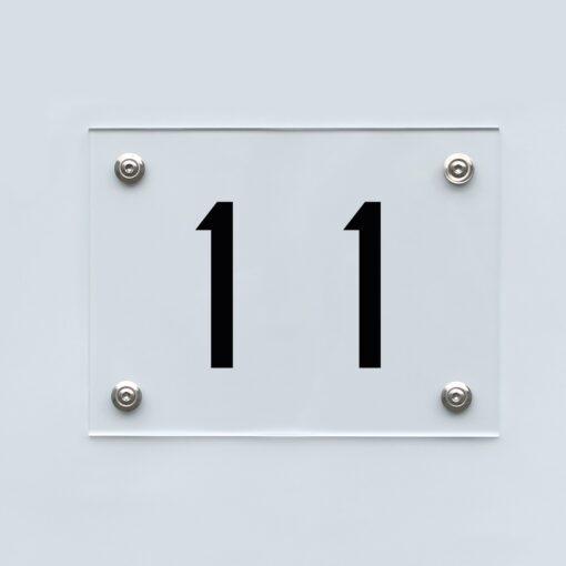 Hausnummernschild 11 - Hausnummer aus Acryl