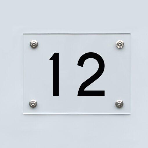 Hausnummernschild 12 - Hausnummer aus Acryl