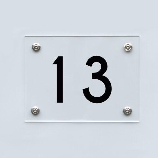 Hausnummernschild 13 - Hausnummer aus Acryl