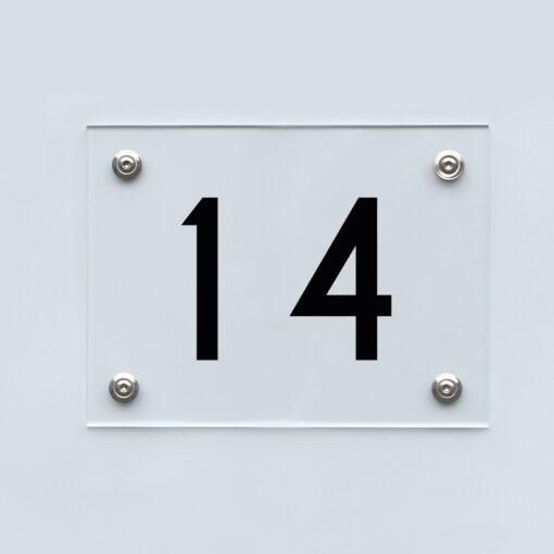 Hausnummernschild 14 - Hausnummer aus Acryl
