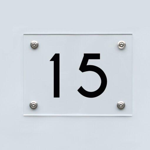 Hausnummernschild 15 - Hausnummer aus Acryl