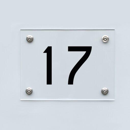 Hausnummernschild 17 - Hausnummer aus Acryl