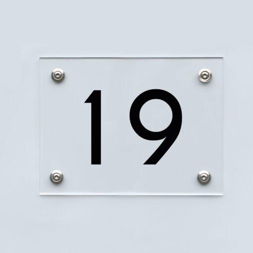 Hausnummernschild 19 - Hausnummer aus Acryl