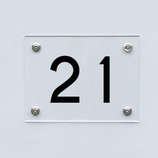 Hausnummernschild 21 - Hausnummer aus Acryl