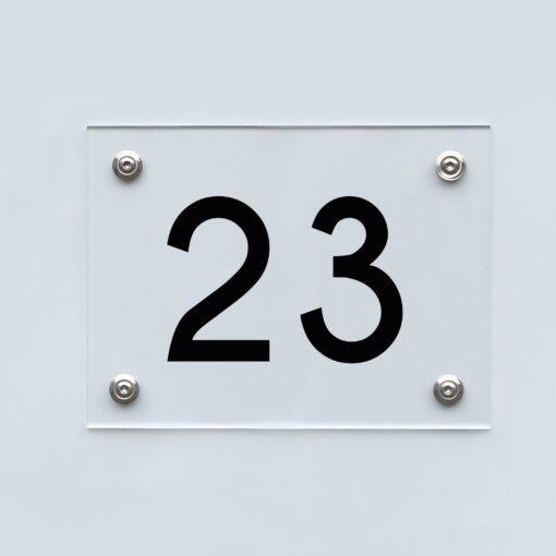 Hausnummernschild 23 - Hausnummer aus Acryl