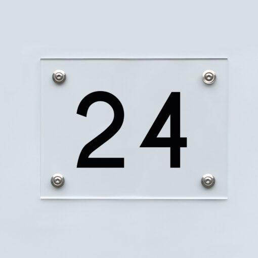 Hausnummernschild 24 - Hausnummer aus Acryl