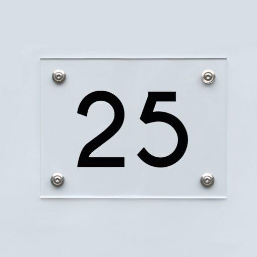 Hausnummernschild 25 - Hausnummer aus Acryl