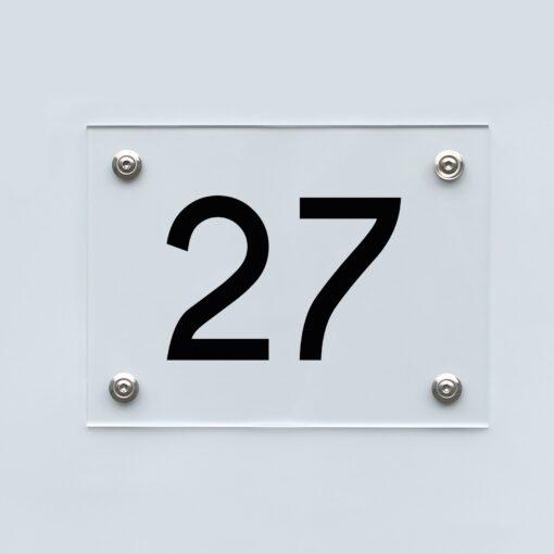 Hausnummernschild 27 - Hausnummer aus Acryl