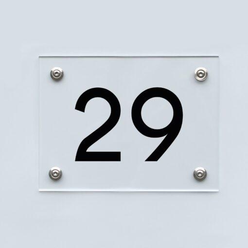 Hausnummernschild 29 - Hausnummer aus Acryl