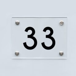 Hausnummernschild 33 - Hausnummer aus Acryl