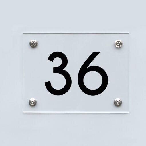 Hausnummernschild 36 - Hausnummer aus Acryl