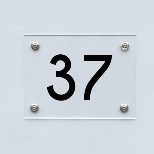 Hausnummernschild 37 - Hausnummer aus Acryl