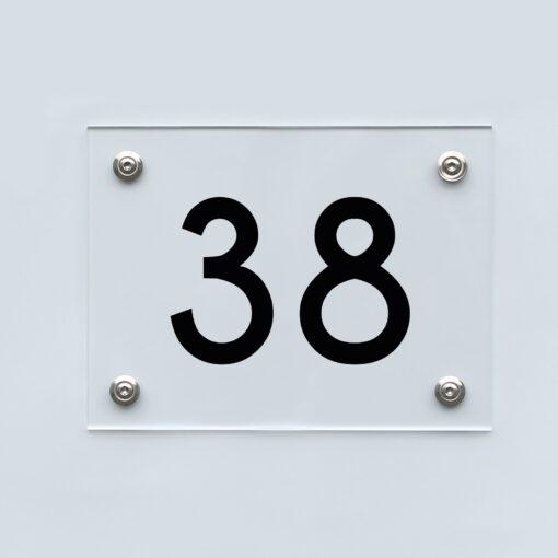 Hausnummernschild 38 - Hausnummer aus Acryl