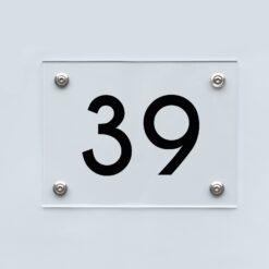 Hausnummernschild 39 - Hausnummer aus Acryl