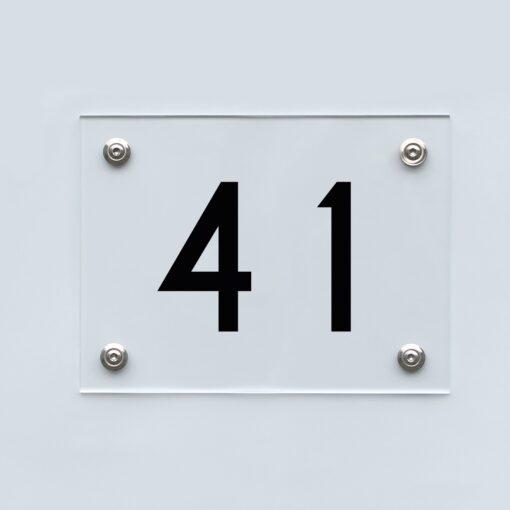 Hausnummernschild 41 - Hausnummer aus Acryl