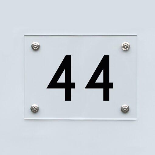 Hausnummernschild 44 - Hausnummer aus Acryl
