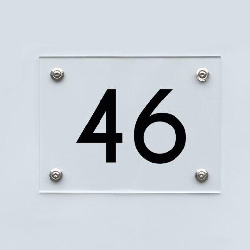 Hausnummernschild 46 - Hausnummer aus Acryl