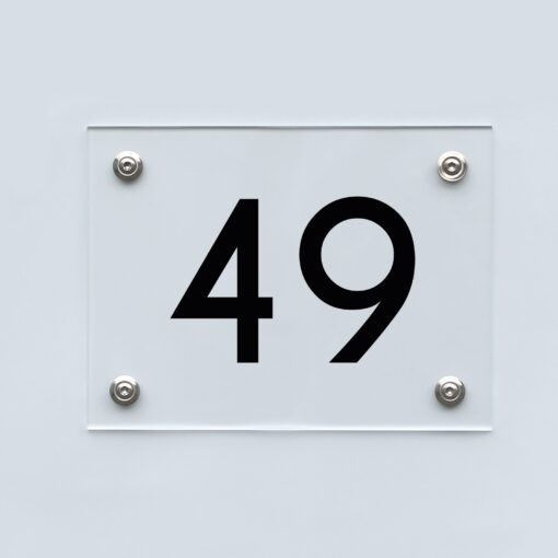 Hausnummernschild 49 - Hausnummer aus Acryl