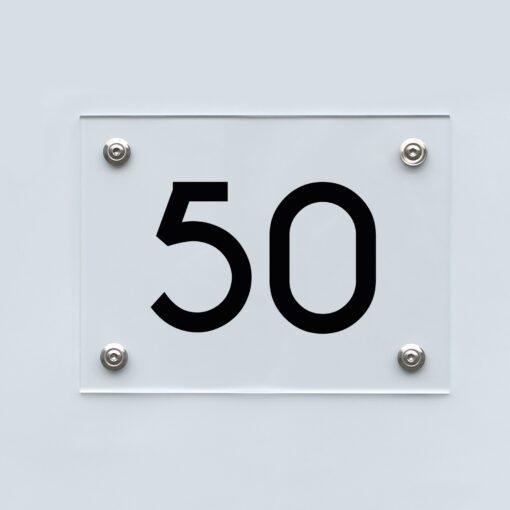 Hausnummernschild 50 - Hausnummer aus Acryl