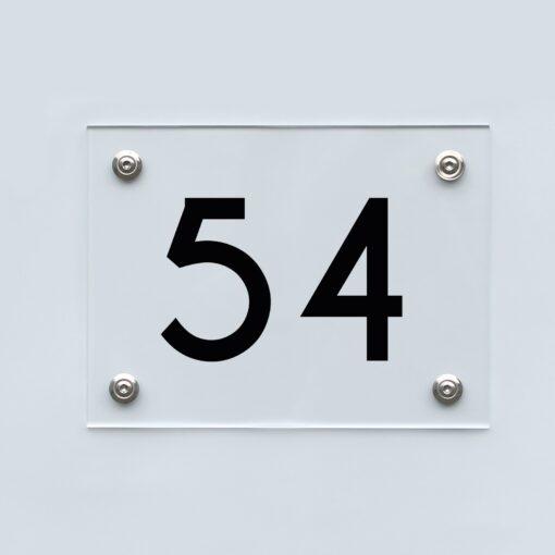 Hausnummernschild 54 - Hausnummer aus Acryl