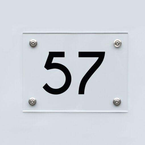 Hausnummernschild 57 - Hausnummer aus Acryl