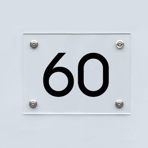 Hausnummernschild 60 - Hausnummer aus Acryl