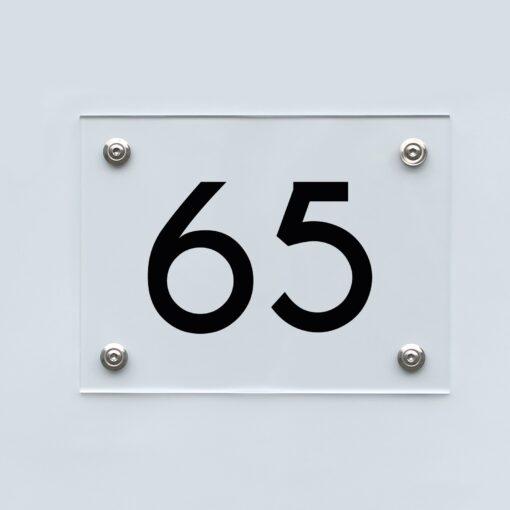 Hausnummernschild 65 - Hausnummer aus Acryl