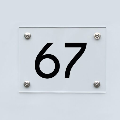 Hausnummernschild 67 - Hausnummer aus Acryl