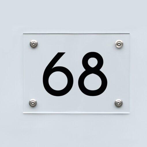 Hausnummernschild 68 - Hausnummer aus Acryl