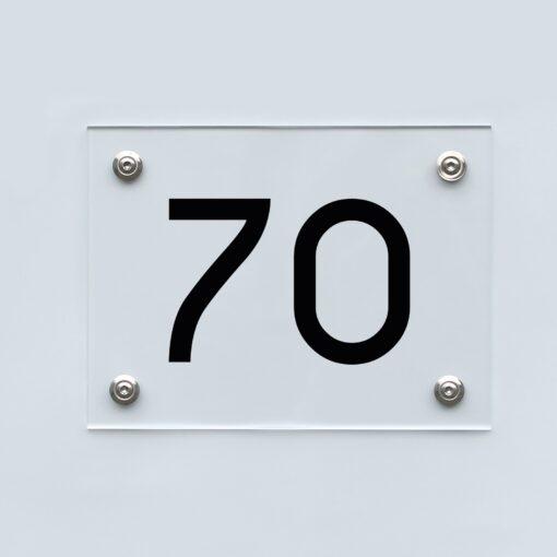 Hausnummernschild 70 - Hausnummer aus Acryl