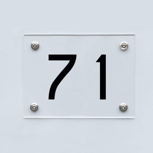 Hausnummernschild 71 - Hausnummer aus Acryl