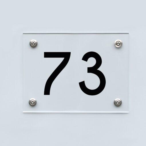 Hausnummernschild 73 - Hausnummer aus Acryl