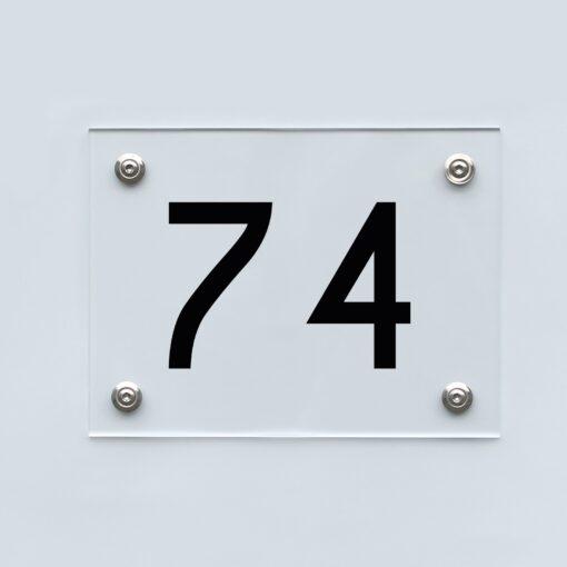 Hausnummernschild 74 - Hausnummer aus Acryl