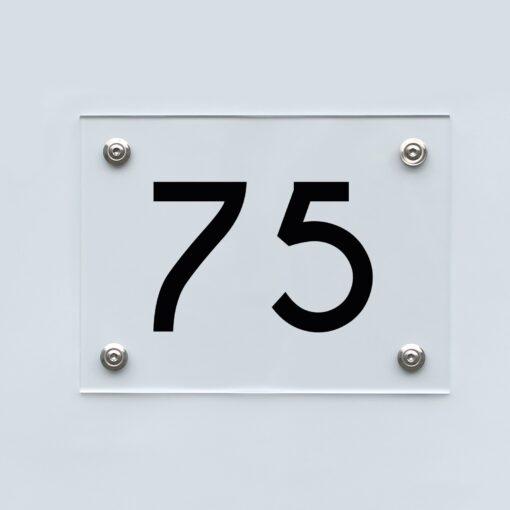 Hausnummernschild 75 - Hausnummer aus Acryl