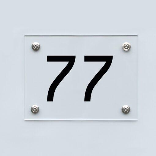 Hausnummernschild 77 - Hausnummer aus Acryl