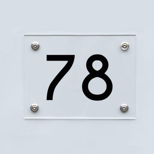 Hausnummernschild 78 - Hausnummer aus Acryl