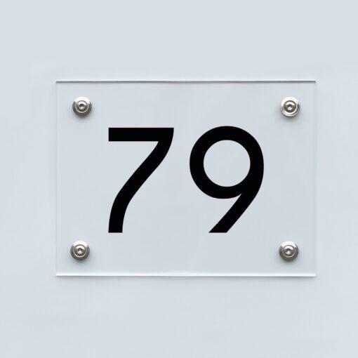 Hausnummernschild 79 - Hausnummer aus Acryl
