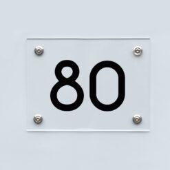 Hausnummernschild 80 - Hausnummer aus Acryl