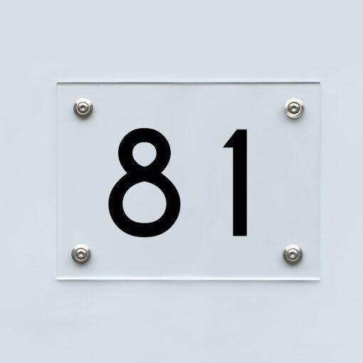 Hausnummernschild 81 - Hausnummer aus Acryl