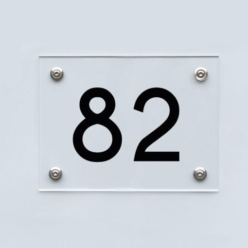 Hausnummernschild 82 - Hausnummer aus Acryl