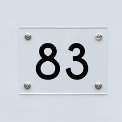 Hausnummernschild 83 - Hausnummer aus Acryl