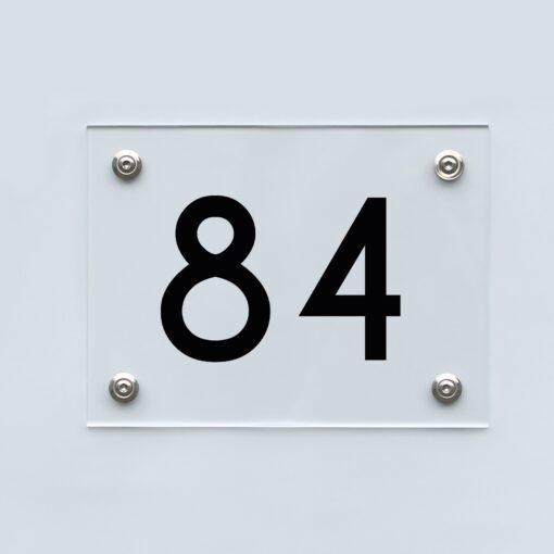 Hausnummernschild 84 - Hausnummer aus Acryl