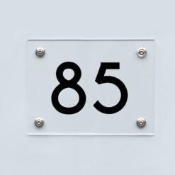 Hausnummernschild 85 - Hausnummer aus Acryl