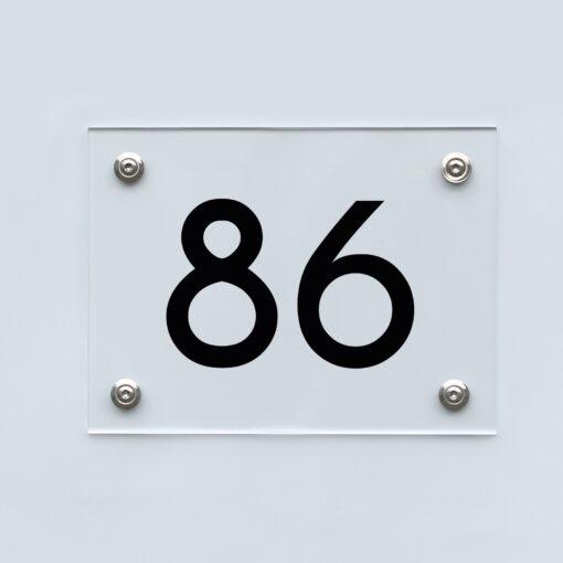 Hausnummernschild 86 - Hausnummer aus Acryl