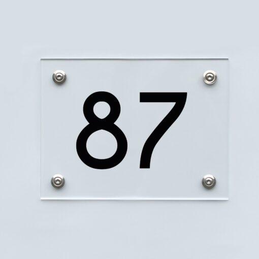 Hausnummernschild 87 - Hausnummer aus Acryl