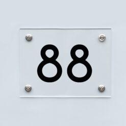 Hausnummernschild 88 - Hausnummer aus Acryl