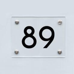 Hausnummernschild 89 - Hausnummer aus Acryl