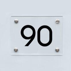 Hausnummernschild 90 - Hausnummer aus Acryl